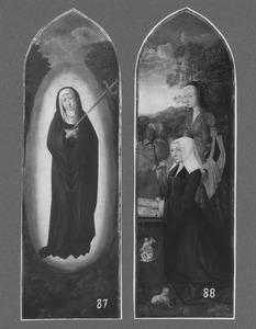 Veelluik met de Zeven Smarten van Maria: Maria als Mater Dolorosa (links); De H. Catharina met stichtster