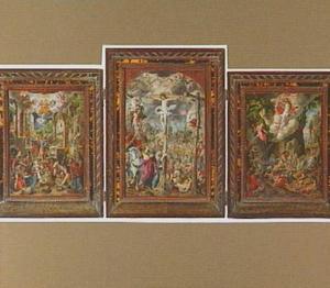 Drieluik met de Aanbidding van de herders (L), de Kruisiging (M) en de Opstanding (R)