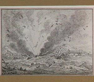 Het springen van het schip 'Alphen' bij Curaçao op 15 september 1778