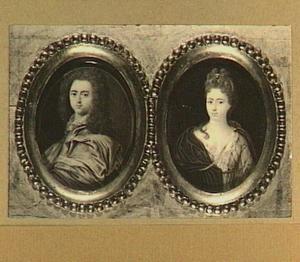 Portretminiaturen van Nicolaes Dierkens (1670), Thesaurier van Den Haag en zijn echtgenote Maria Catharina van Schuylenburch (1677-1739)