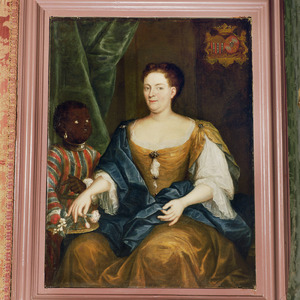 Portrait of Anna Margaretha van Renesse (1703-1775), met een bediende