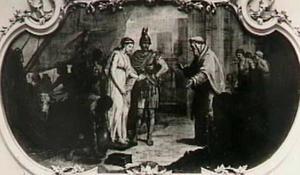 Chryseis door Odysseus naar haar vader Chryses teruggevoerd
