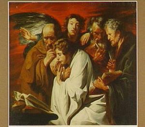 De vier evangelisten en een engel