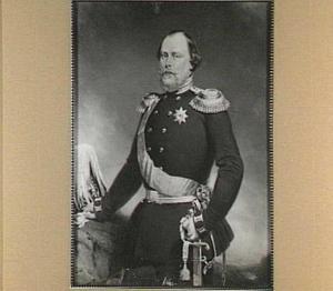 Portret van Koning Willem II in Russisch uniform
