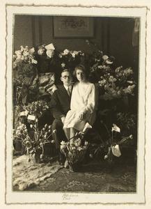 Portret van Jan Hazenberg (1903-1989) en Martina de Jonge (1907-1985)