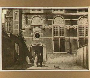 Gezicht op de Kloveniersdoelen te Dordrecht (aan de Stekzijde)