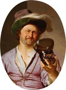 Zelfportret als vrolijke drinker