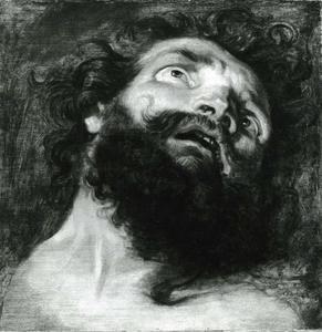 Christus aan het kruis tussen de twee moordenaars, 'de lanssteek'