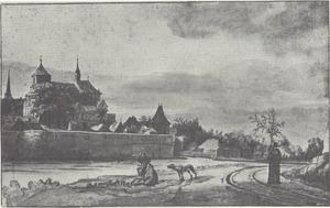 Gezicht op Mönchengladbach vanaf het zuiden