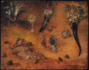 Studie van schelpen, bloemen, vruchten en kleine dieren
