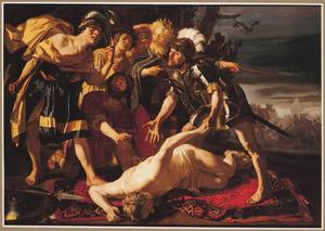 Achilles bij het lijk van Patroclos (?)