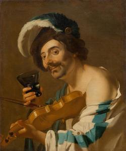 Man met een berkemeier en een viool
