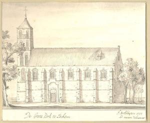 Lochem, gezicht op de Grote kerk
