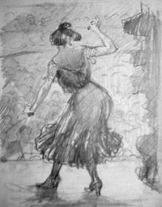 Danseres met castagnetten