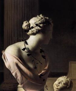 Trompe-l'oeil met een Venus-buste