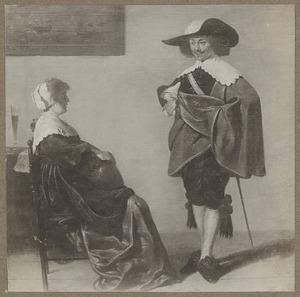 Elegant paar in een interieur