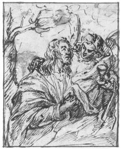 Christus op de Olijfberg getroost door een engel (Lucas 22:39-46)