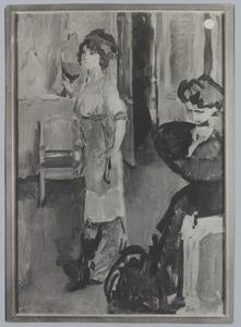 Twee dames in een interieur