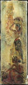 Compositie van drie Balinese schonen