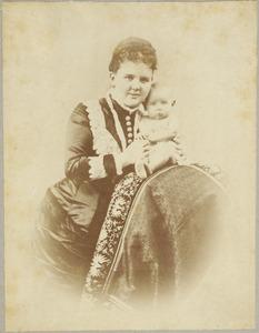 Portret van regentes Emma (1858-1934) en prinses Wilhelmina (1880-1962)