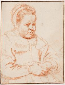 Schets van een meisjesportret