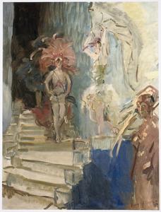 Revuemeisjes in het Scala Theater
