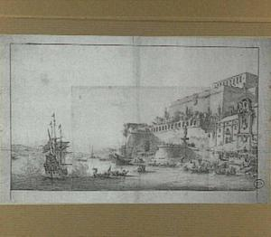 Schepen in de haven van La Valetta bij Malta
