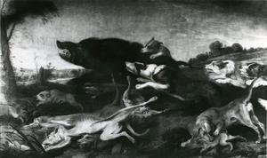 Honden vallen wilde zwijnen aan