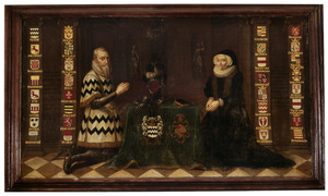 Dubbelportret van Goert van Reede van Saesveld (1516-1585) en Geertruijd van Nijenrode (1525-1605)