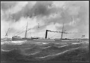 """Het stoomschip """"Gedé"""" van de Rotterdamsche LLoyd"""