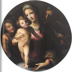 De heilige familie met Johannes de Doper