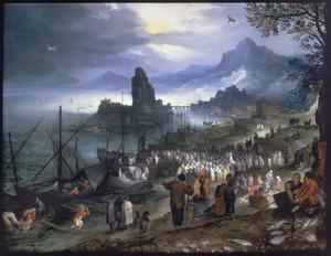 Christus predikt bij de haven