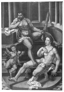 Hercules, Deianira (of Omphale) en Cupido