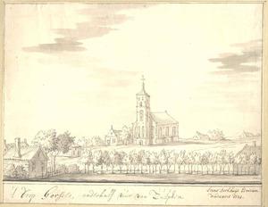 Gorssel, gezicht op het dorp met de kerk