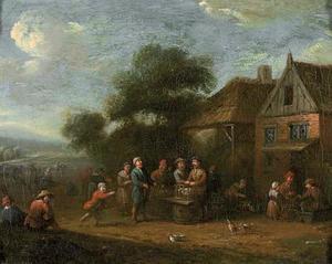 Pluimveemarkt voor een boerderij