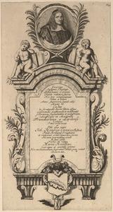 Het grafmonument van Johannes Coccejus (1603-1669) met zijn portret