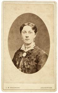 Portret van Fritia de Gavere (1860-1936)
