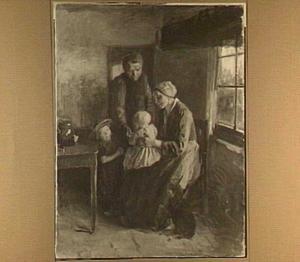 Interieur met een gezin