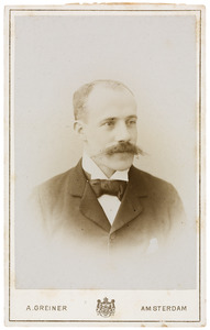 Portret van Adrianus Anton Everts (1863-1926)