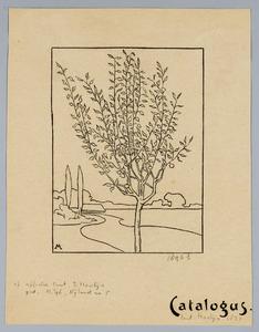 Omslag tentoonstellingscatalogus Simon Moulijn 1897