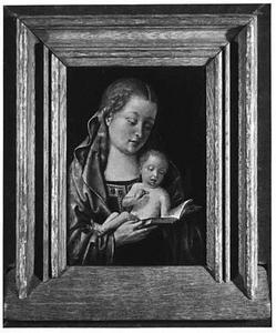 Maria met kind lezend in een boek