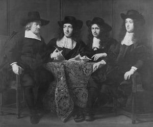 De regenten van het Leprozenhuis te Amsterdam: Blaes Baltensz. van der Wiele (?-?), Gilles Hens (?-1675), Gerrit Ruytenberg (?-?) en een onbekende man