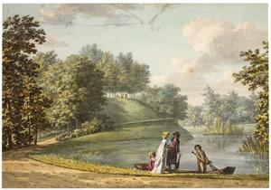 Galante figuren bij de 'Grote Kom' in de tuin van kasteel Groeneveld te Baarn