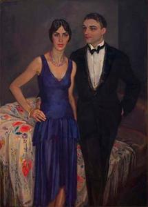 Portret van het echtpaar Ter Kuile
