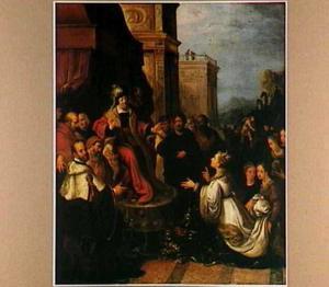 De koningin van Seba stelt Salomo op de proef met haar raadsels (1 Koningen 10:2-3)