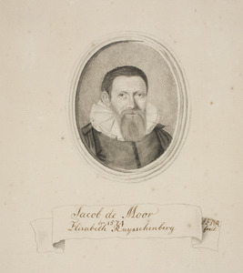Portret van Jacob de Moor (1539-1599)