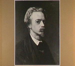 Zelfportret van de schilder August Allebé (1838-1927)