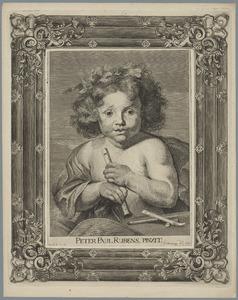 Portret van een jong kind met een fluit