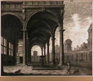 Binnenplaats van een paleis