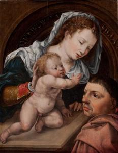 Maria met kind en schenker